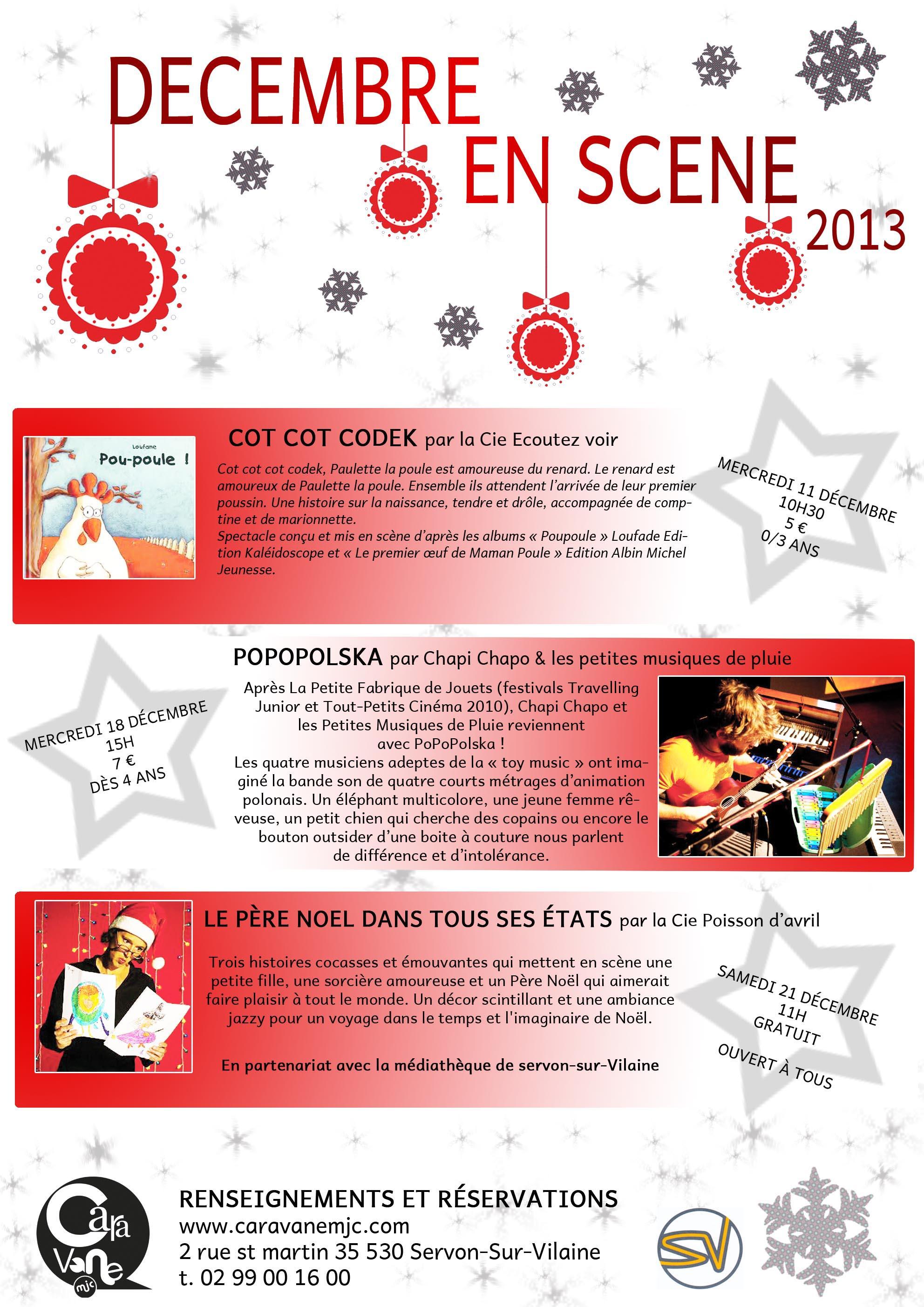 spectacles décembre